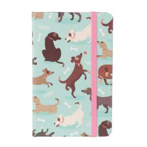 Quadernetto moleskine con cani che giocano