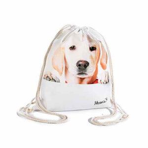 Sacchetta zaino con cane Labrador